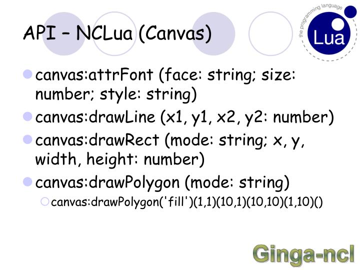 API – NCLua (Canvas)