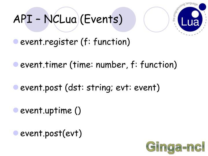 API – NCLua (Events)