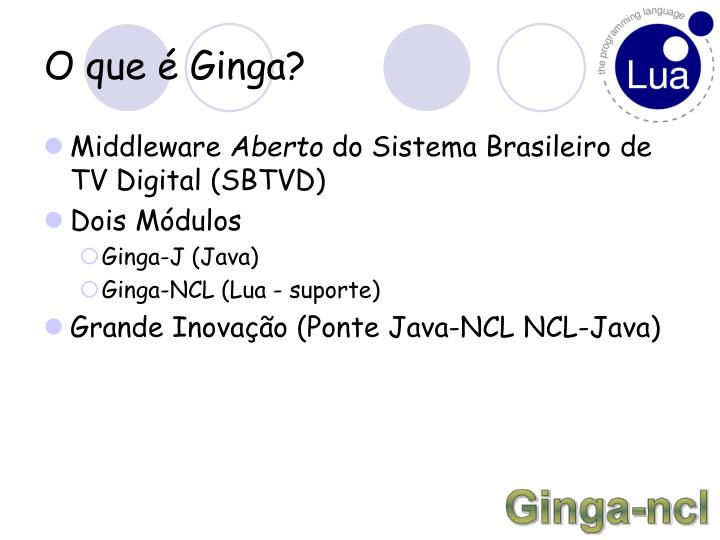 O que é Ginga?