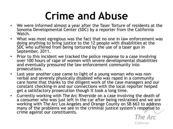 Crime and Abuse
