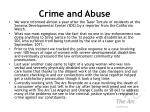 crime and abuse