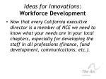 ideas for innovations workforce development