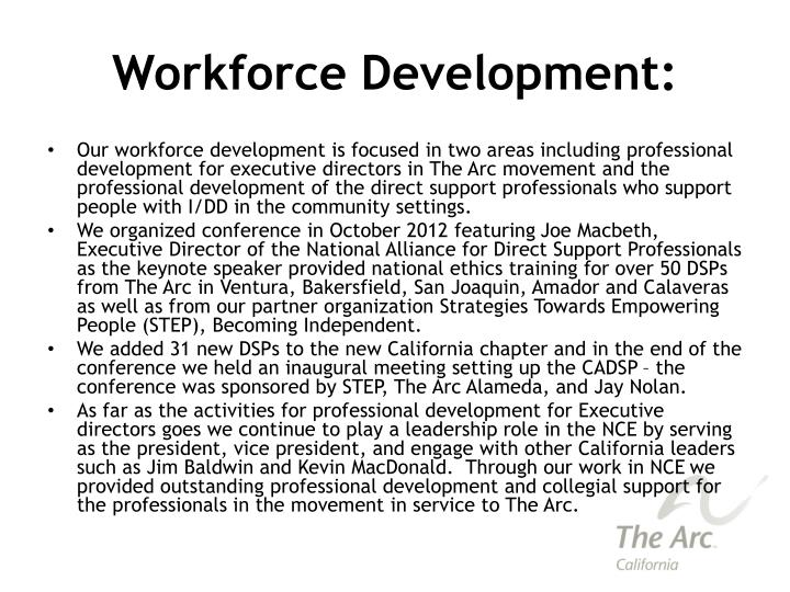 Workforce Development: