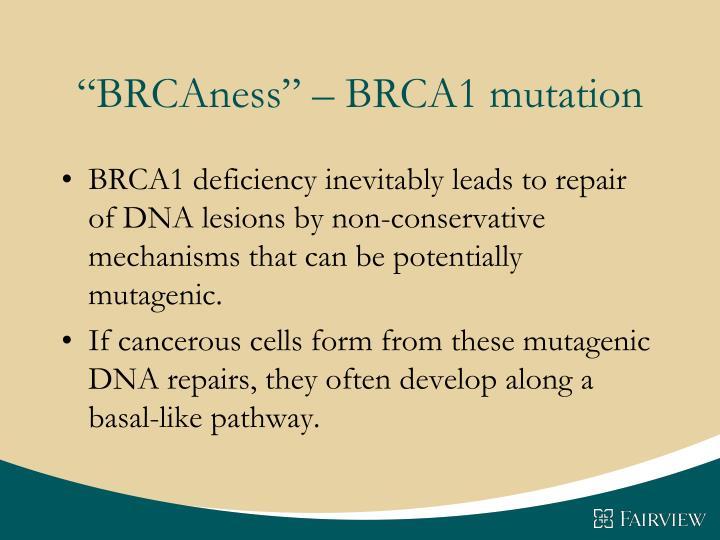 """BRCAness"" – BRCA1 mutation"