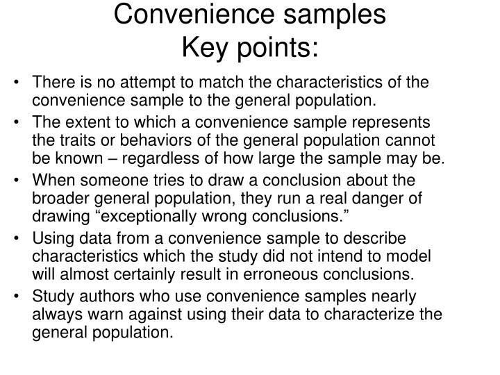 Convenience samples