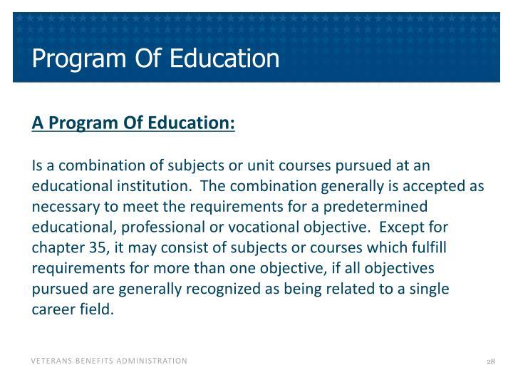 Program Of Education