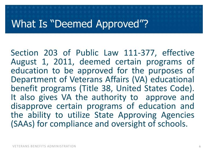"""What Is """"Deemed Approved""""?"""