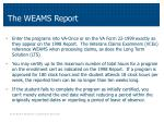 the weams report1