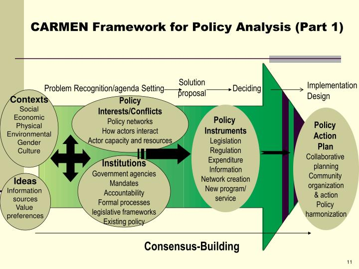 CARMEN Framework for Policy Analysis (Part 1)