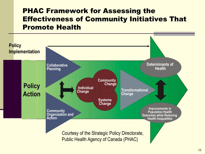 PHAC Framework for Assessing the Effectiveness of Community Initiatives That Promote Health