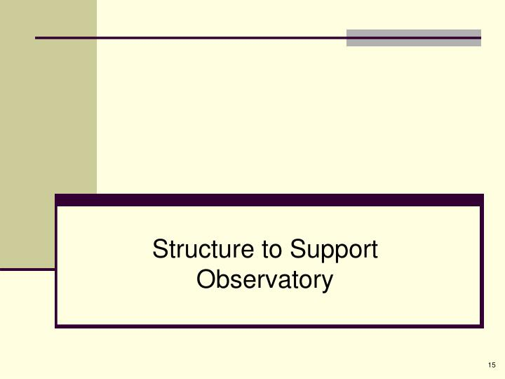 Structure to Support Observatory