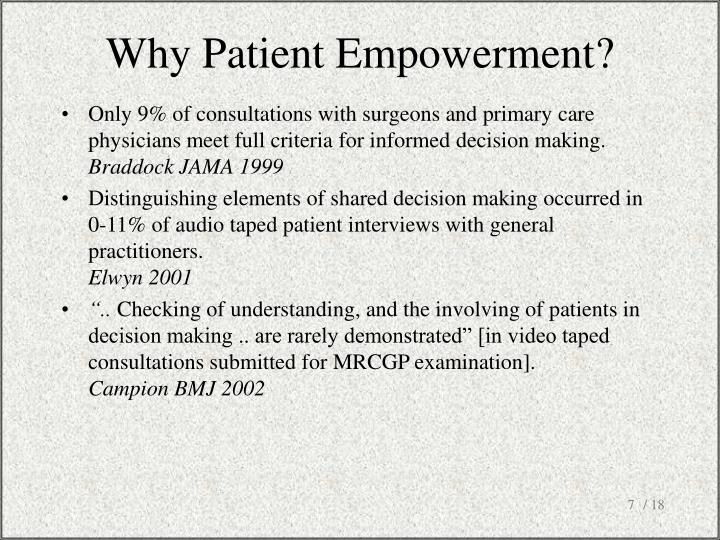Why Patient Empowerment?