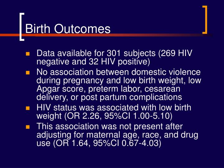 Birth Outcomes