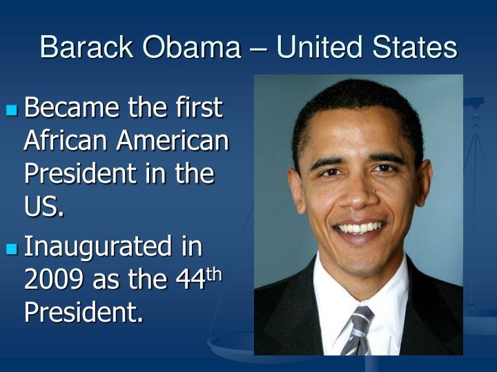 Barack Obama – United States