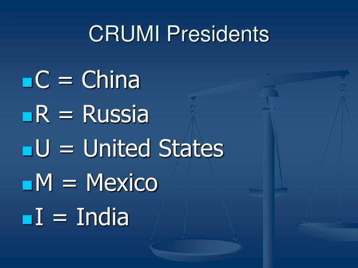 CRUMI Presidents