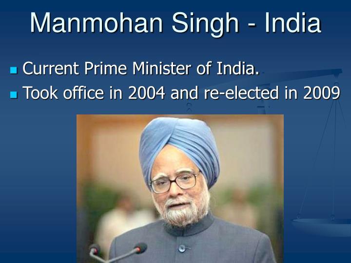 Manmohan Singh - India