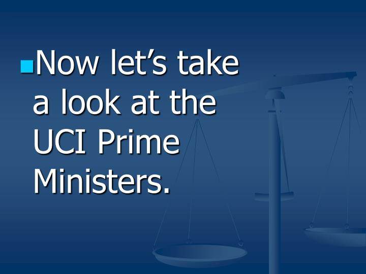 Now let's take a look at the UCI Prime Ministers.