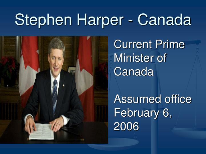 Stephen Harper - Canada