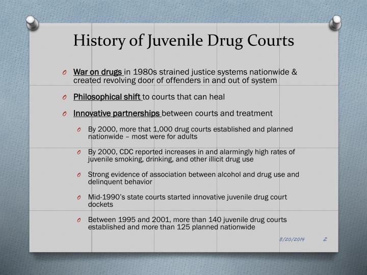 History of Juvenile Drug Courts