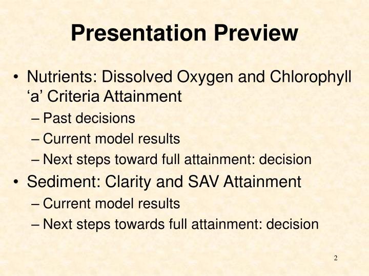 Presentation Preview