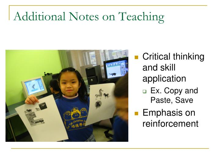 Additional Notes on Teaching