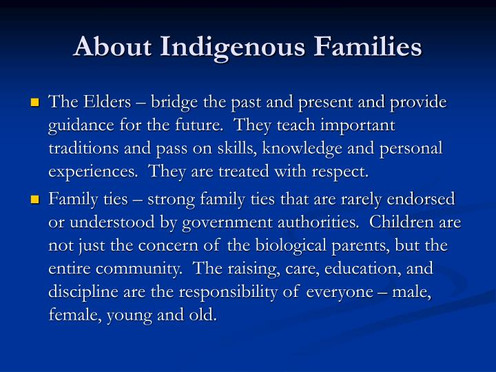 About Indigenous Families