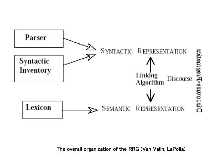 The overall organization of the RRG (Van Valin, LaPolla)