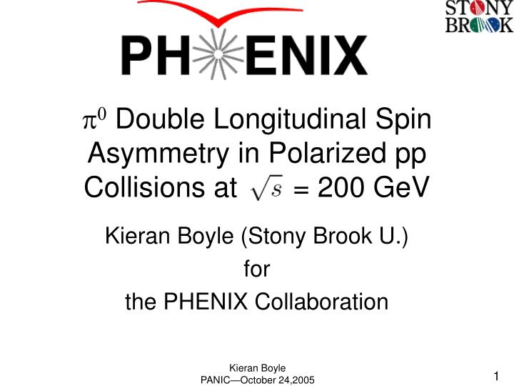 P 0 double longitudinal spin asymmetry in polarized pp collisions at 200 gev