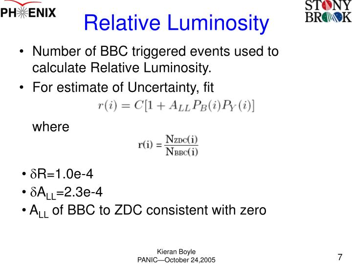 Relative Luminosity