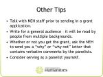 other tips