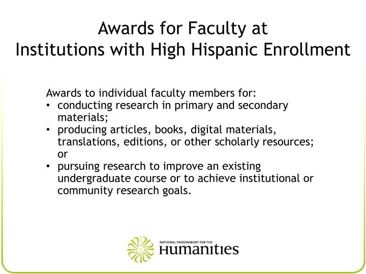 Awards for Faculty at