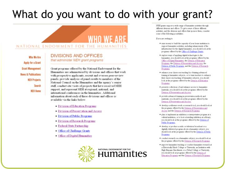 What do you want to do with your grant?