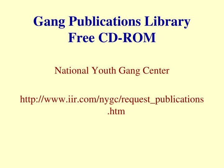 Gang Publications Library
