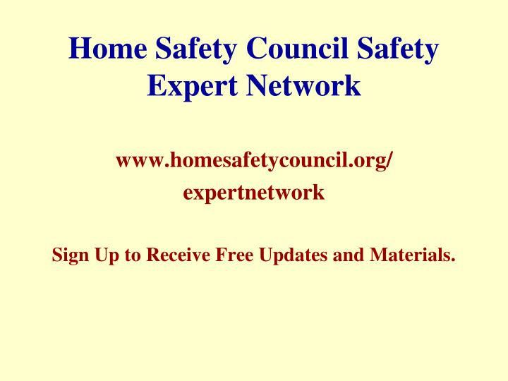 Home Safety Council Safety Expert Network