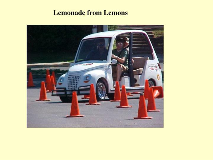 Lemonade from Lemons