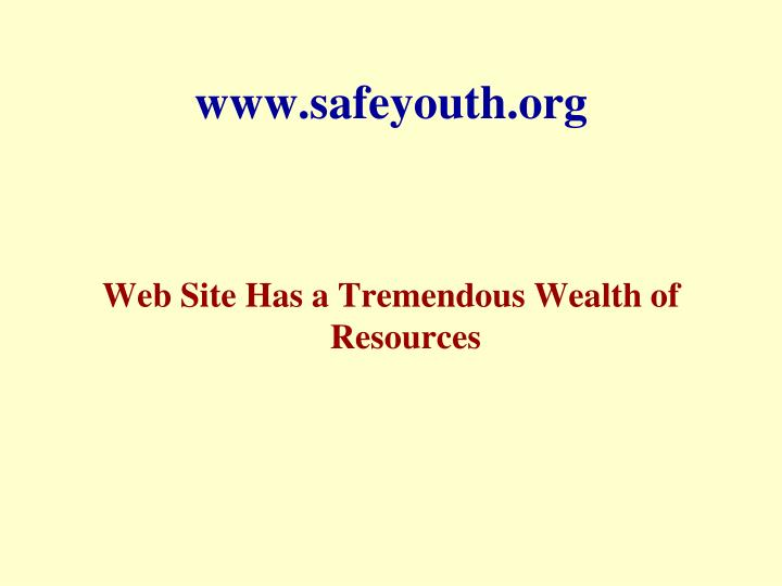 www.safeyouth.org