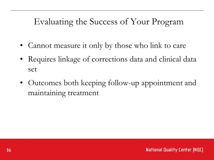 Evaluating the Success of Your Program