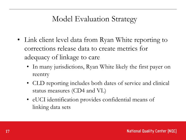 Model Evaluation Strategy