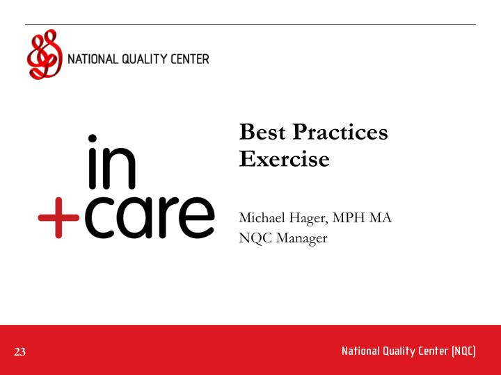 Best Practices Exercise