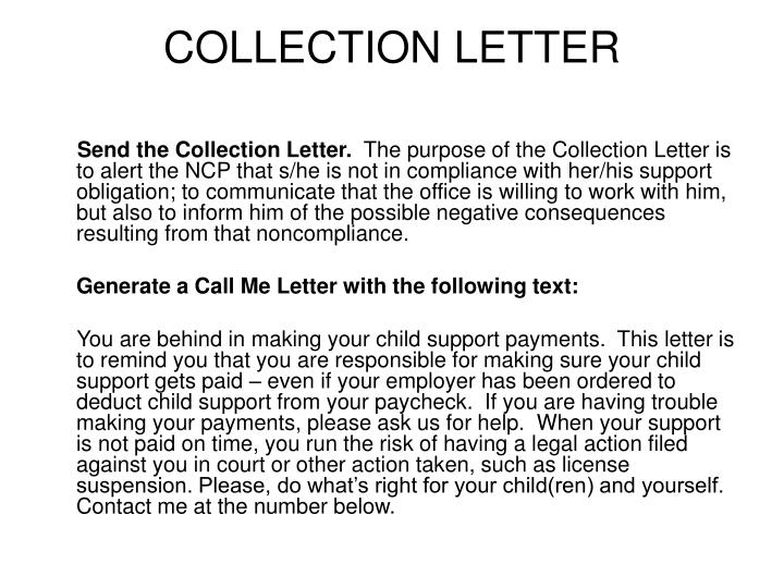 COLLECTION LETTER