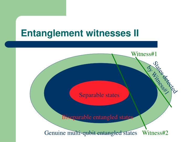 Entanglement witnesses I