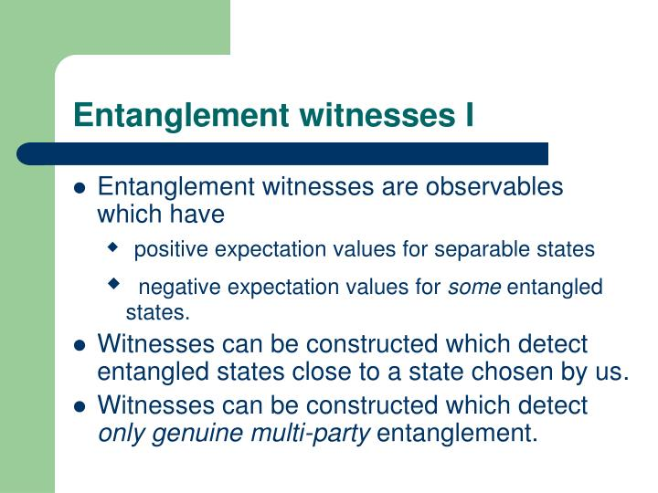 Entanglement witnesses