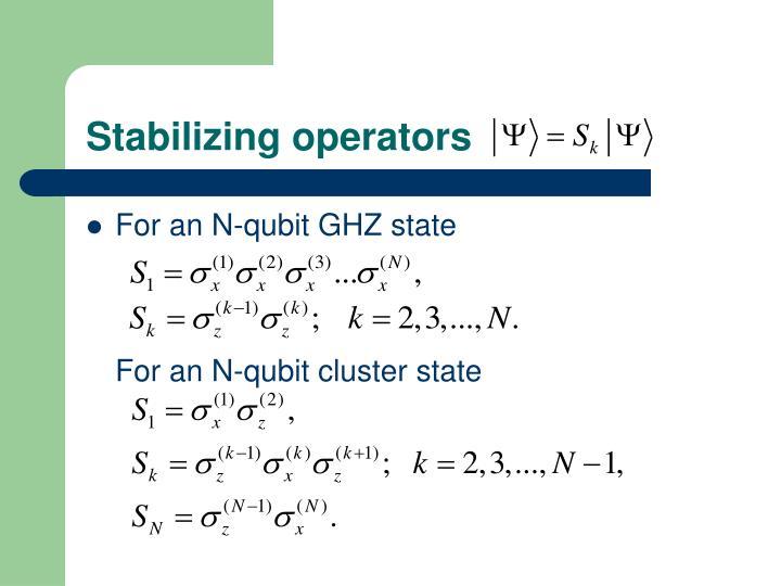Stabilizing operators
