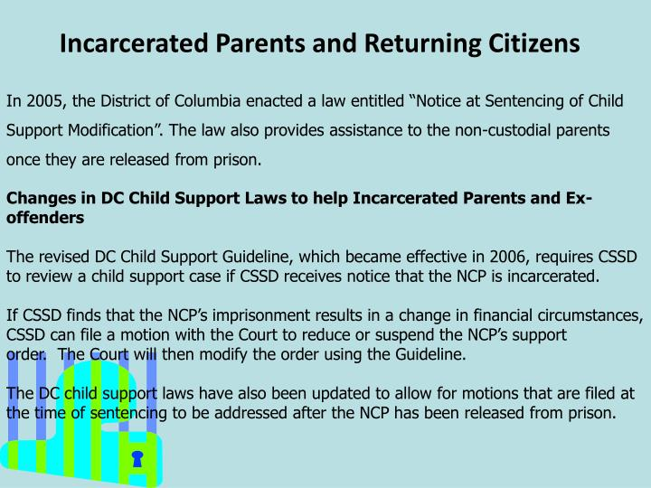Incarcerated Parents and Returning Citizens