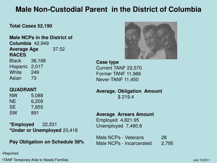 Male Non-Custodial Parent  in the District of Columbia
