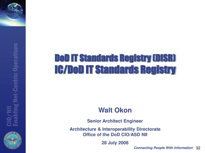 DoD IT Standards Registry (DISR)