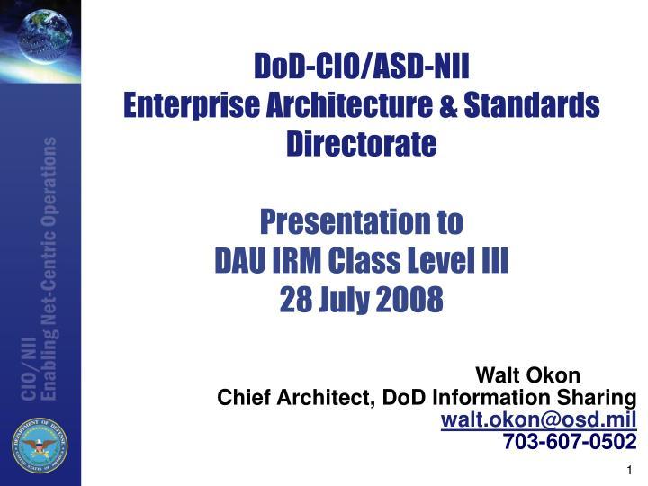 DoD-CIO/ASD-NII