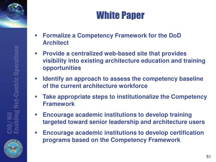 Formalize a Competency Framework for the DoD Architect