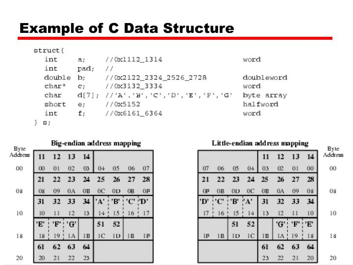 Example of C Data Structure