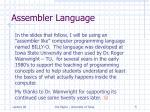assembler language